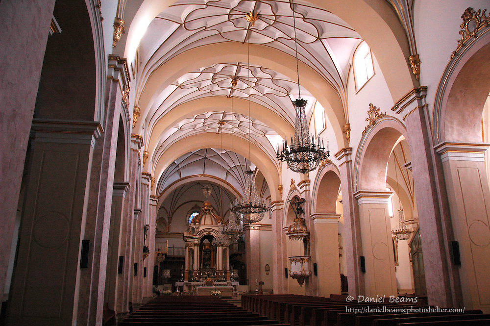 Main Catholic cathedral in Sucre, Bolivia