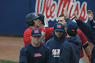 Ole Miss' Matt Tracy (29) hits a home run at Oxford-University Stadium in Oxford, Miss. on Sunday, March 6, 2010. Tulane won 3-1.