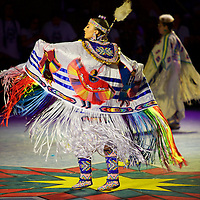 Tradition, respect and awe - just some of the words to describe witnessing a portion of the Fancy dance portion of the Pow Wow event at the 2016 Gathering of Nations. Simply amazing to behold.