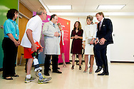King Willem-Alexander and Queen Maxima of The Netherlands Visit Rehabilitation Institute Chicago  in Chicago. United States, 3 June 2015.The King and Queen visit the United States during an 3 day official visit. COPYRIGHT ROBIN UTRECHT