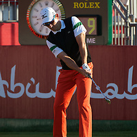 19.01.2013 Abu Dhabi, United Arab Emirates. Ignacio Garrido in action during the European Tour HSBC Golf championship  third round from the Abu Dhabi Golf Club.