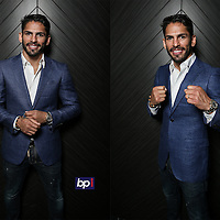 Boxer Jorge Linares poses after his press conference with Anthony Crolla held at Hotel Football, Manchester on August 24rd 2016