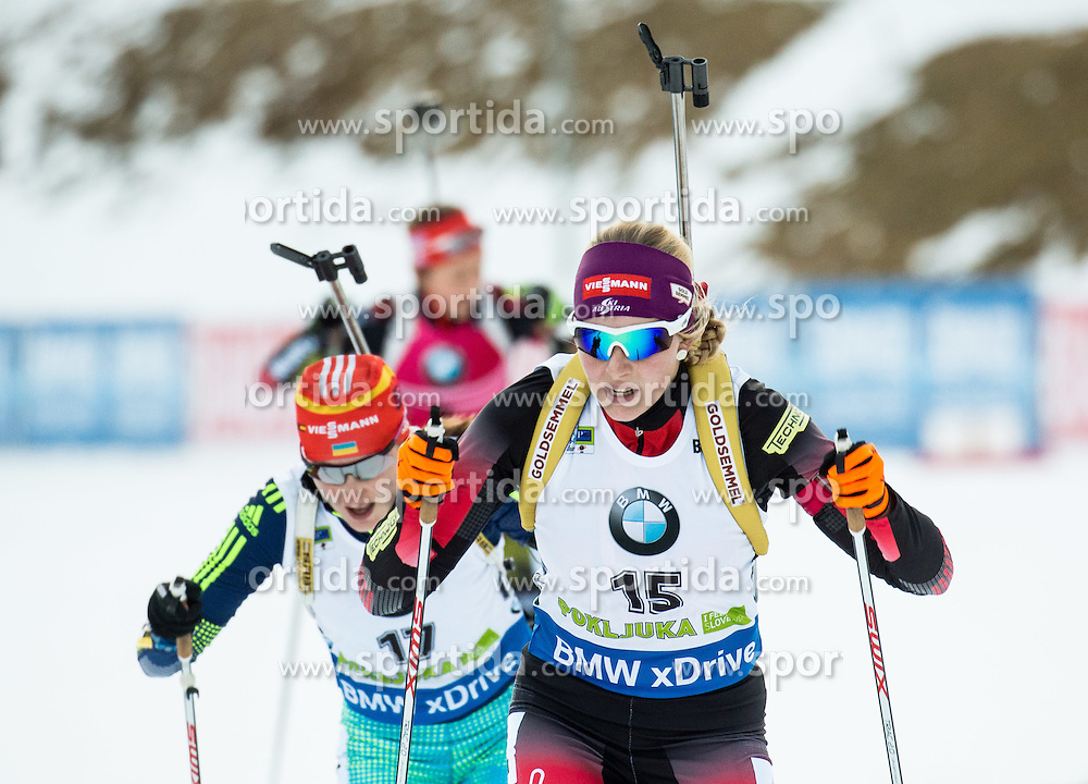 Lisa Theresa Hauser (AUT)  during Women 12.5 km Mass Start at day 4 of IBU Biathlon World Cup 2015/16 Pokljuka, on December 20, 2015 in Rudno polje, Pokljuka, Slovenia. Photo by Vid Ponikvar / Sportida