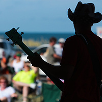 Dave Hervey of Blivet performs Sunday July 13, 2014 during Boogie in the Park at Kure Beach, N.C. (Jason A. Frizzelle)