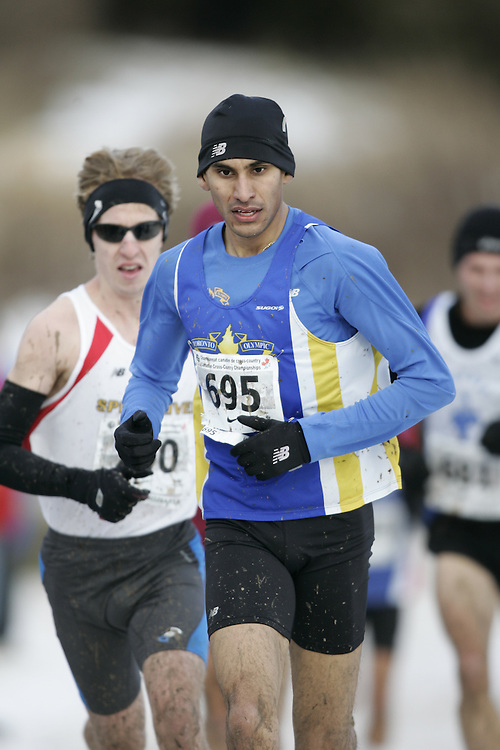 Guelph, Ontario ---29/11/08---  SAHEED KHAN runs the senior mens race at the 2008 AGSI Canadian Cross Country Nationals in Guelph, Ontario November 29, 2008..GEOFF ROBINS Mundo Sport Images