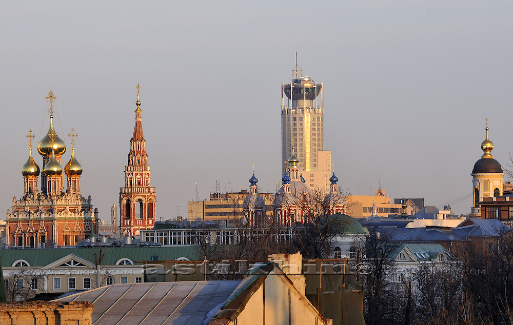 Roofs of Moscow, Russia.