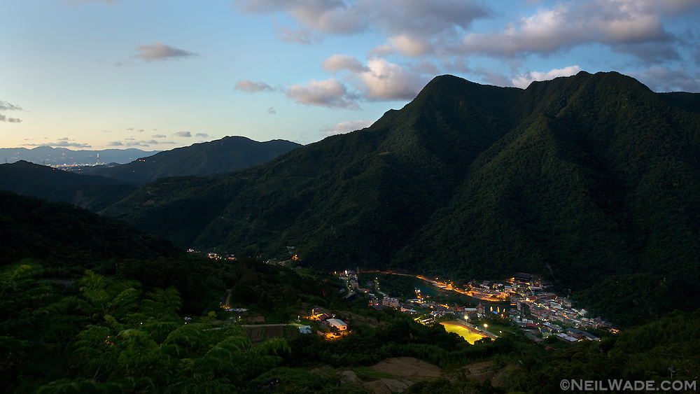 A look back towards Taipei and Taipei 101 from a mountain above Wulai, Taiwan (????).