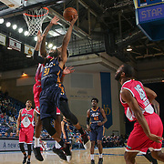 Salt Lake City Stars Forward DEANDRE' BEMBRY (91) drives towards the basket as Delaware 87ers Forward ROSCOE SMITH (31) defends in the second half of an NBA D-league regular season game between the Delaware 87ers and the Salt Lake City Stars (Utah Jazz) Friday, March 17, 2017 at The Bob Carpenter Sports Convocation Center in Newark, DEL