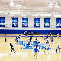 University of Kentucky Basketball practice for ESPN