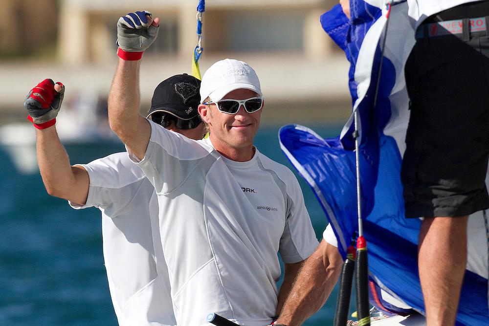 Jesper Radich after winning his semi-final against Eric Monnin. Argo Group Gold Cup 2010. Hamilton, Bermuda. 9 October 2010. Photo: Subzero Images/WMRT