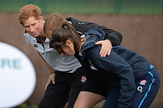 OCT 20 2014 Prince Harry playing Rugby