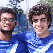 Photos of double champions Caesar Rodney Neil Patel and Cyrus Shanehsaz taken Tuesday, May. 26, 2015 at UD Field House in Newark, DEL