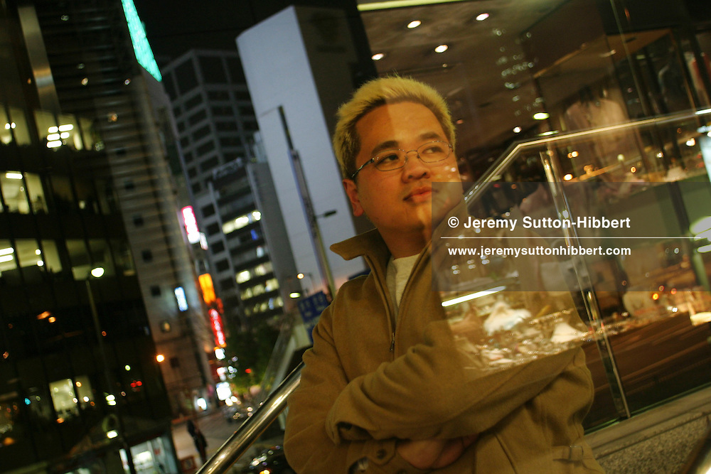 ATSUSHI SAKAHARA, victim of the 1995 Tokyo underground sarin gas attack by Aum Shinrikyo Supreme Truth Cult (now known as Aleph), in Tokyo, Japan