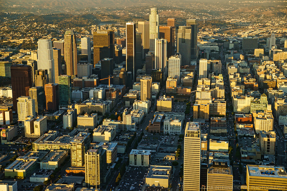 Downtown Los Angeles (present and historic)