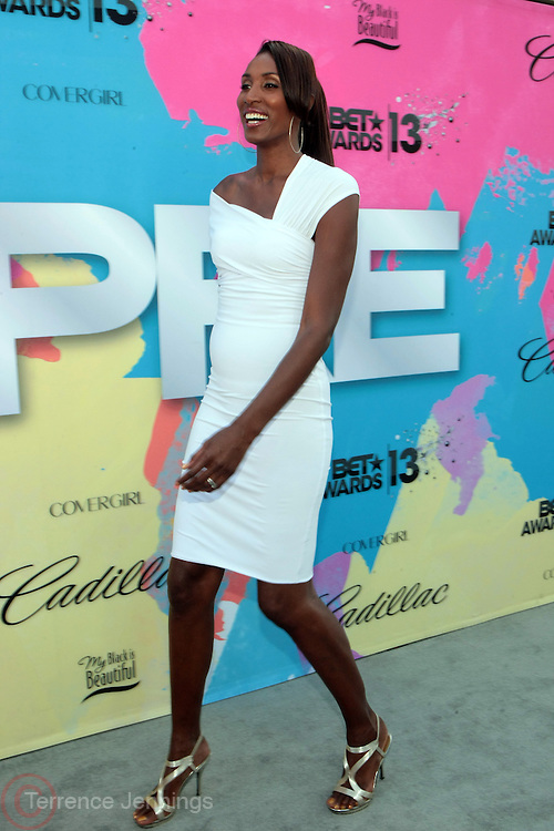 """Los Angeles, CA-June 29:  Former WBA Player Lisa Leslie attends the Seventh Annual """" Pre """" Dinner celebrating BET Awards hosted by BET Network/CEO Debra L. Lee held at Miulk Studios on June 29, 2013 in Los Angeles, CA. © Terrence Jennings"""