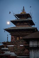 The Taleju Temple, built in 1564 in Kathmandu's Durbar Square, suffered only minor damage during the earthquake.