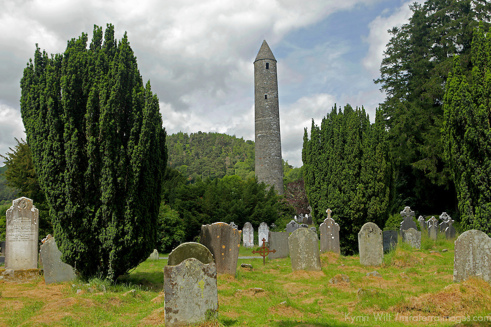 Europe, Ireland, Glendalough. Monastic site of St. Kevin in Glendalough.