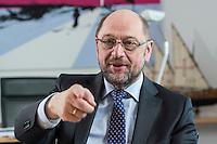 27 FEB 2017, BERLIN/GERMANY:<br /> Martin Schulz, SPD, desig. Parteivorsitzender und Kanzlerkandidat, waehrend einem Interview, in seinem Beuro, Willy-Brandt-Haus<br /> IMAGE: 20170227-01-019