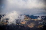 23/12/16 - VALLEE DE LA CERE - CANTAL - FRANCE - Vue des terres d estives entre Vallee de Mandailles et Vallee de la Cere - Photo Jerome CHABANNE