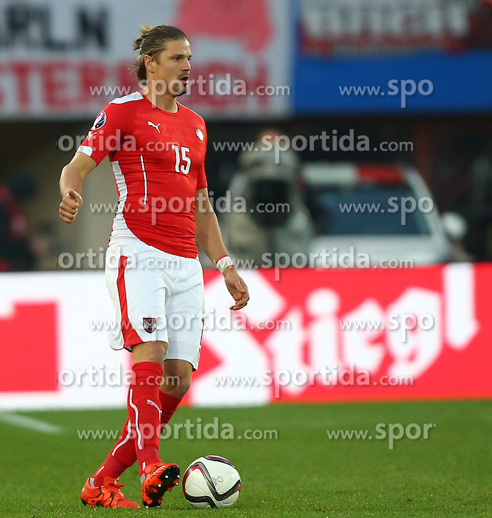 12.10.2015, Ernst Happel Stadion, Wien, AUT, UEFA Euro 2016 Qualifikation, Oesterreich vs Liechtenstein, Gruppe G, im Bild Sebastian Proedl (AUT) // during the UEFA EURO 2016 qualifier group G between Austria and Liechtenstein at the Ernst Happel Stadion, Vienna, Austria on 2015/10/12. EXPA Pictures © 2015, PhotoCredit: EXPA/ Thomas Haumer