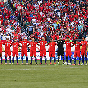 Chile players stands on the field together prior a Copa America Centenario Group D match between the Chile and Panama Tuesday, June. 14, 2016 at Lincoln Financial Field in Philadelphia, PA.