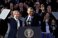 President Barack Obama and First Lady Michelle Obama visit Dublin