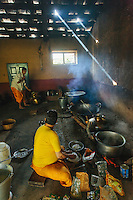 Food being prepared on wood at Lord Raghunath Temple, Kullu.. Kullu Dussehra is the Dussehra festival observed in the month of October in Himachal Pradesh state in northern India. It is celebrated in the Dhalpur maidan in the Kullu valley. Dussehra at Kullu commences on the tenth day of the rising moon, i.e. on 'Vijay Dashmi' day itself and continues for seven days. Its history dates back to the 17th century when local King Jagat Singh installed an idol of Raghunath on his throne as a mark of penance. After this, god Raghunath was declared as the ruling deity of the Valley.