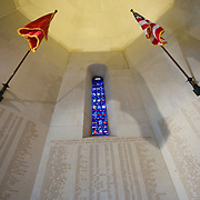In the chapel of Somme American Cemetery and Memorial located in Bony, Aisne, Picardy, France. It contains the graves of 1,844 of the United States' military dead from World War I<br /> On the wall engraved the names of 333 of the missing.