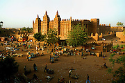 Great Mosque, Djenne, Mali. It is the largest mud structure in the world.