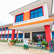 CAPTION: This is the entrance to SMP N 7 Secondary School, one of the four schools chosen to pilot a project aimed at building teachers' and students' climate change resilience capacity through hands-on educational materials and outdoor practical projects. LOCATION: SMP N 7 School, Bandar Lampung, Indonesia. INDIVIDUAL(S) PHOTOGRAPHED: N/A.