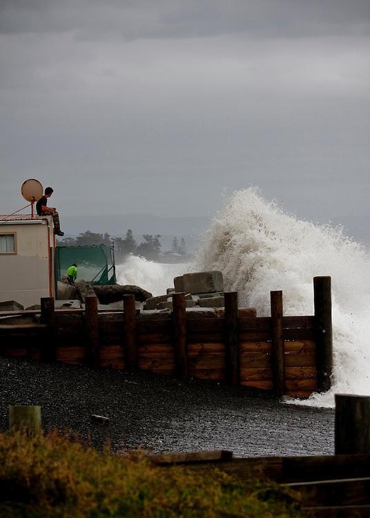 High seas, file picture, Haumoana, Napier, New Zealand, New Zealand, Monday, June 11, 2011.  Credit: SNPA / Bethelle McFedries