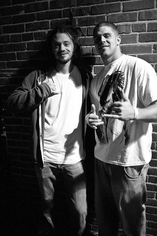 Jacob of SOJA with Redskins quarterback Jason Campbell, State Theater, Falls Church, VA