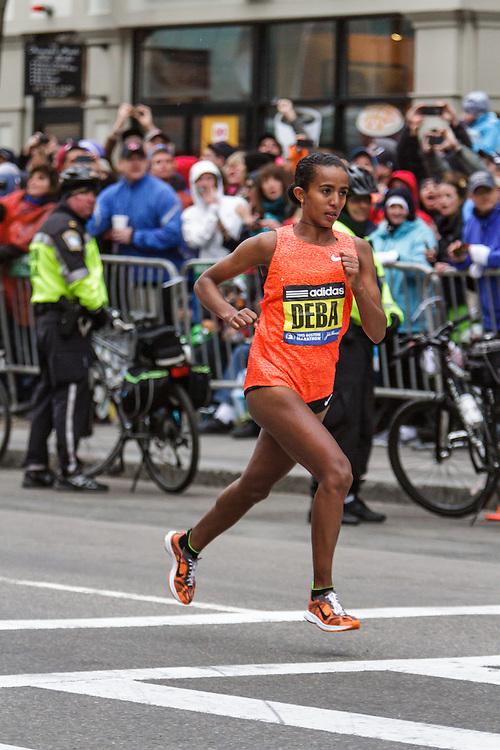 Boston Marathon: Buzunesh Deba, Nike, Ethiopia, resides in New York