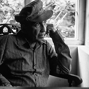 Lester James Peries (born 5 April 1919) is an internationally acclaimed Sri Lankan film director, screenwriter, and film producer.<br /> Picture taken in 1988. at his home on Dickman's Road.