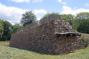 Ramparts at the Gaulish town of Bibracte, capital of the Aedui, on Mount Beuvray in the Morvan National Park.