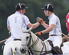 AUG 03 2013 Prince William and Prince Harry Playing Polo