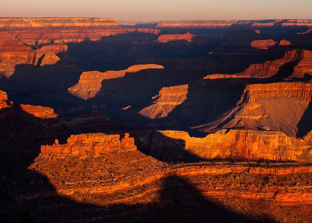 Sunrise from Yavapai Point, Grand Canyon National Park.