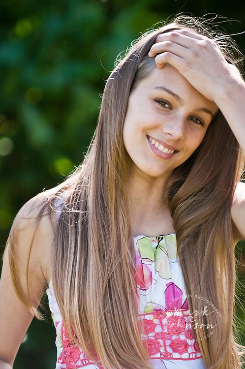 13 year old girl portrait, Kauai, Hawaii