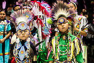 Gathering of Nations Pow Wow, Navajo, boys, kids, Traditional Dancer, Albuquerque, New Mexico