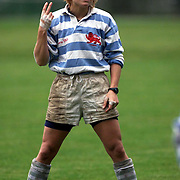 CAMBRIDGE UNIVERSITY STUDENT JESSICA HUDSON  THE CAPTAIN OF JESUS COLLEGE WOMANS RUGBY TEAM PREPARES THE TEAM FOR THE MATCH AGAINST NOTTINGHAM UNIVERSITY.....