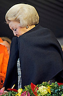 Prinses Beatrix op de tribune tijdens de kur op muziek bij het CHIO Rotterdam.  25-6-2016 ROTTERDAM - princess beatrix of the netherlands during the Chio Horses races in Rotterdam . copyright robin utrecht
