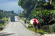 Main road in Guaos, Cienfuegos Province, Cuba.