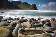Rocks on Unstad Beach, Lofoten Islands, Norway