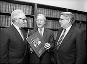 1987 - Presentation of I.H.F. report to C.J. Haughey, T.D., Leader of Fianna Fail