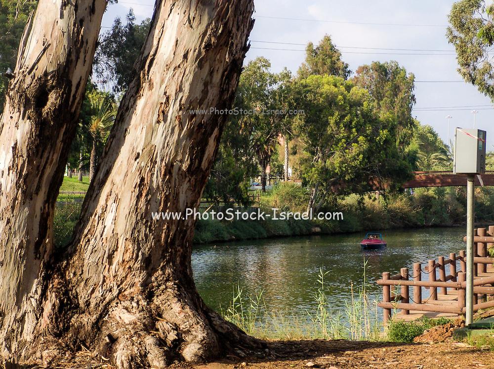 Israel, Tel Aviv, The Yarkon River and park
