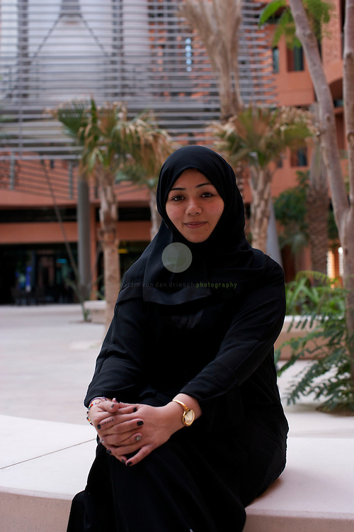 Portrait of Noura Ahmed Sultan Al Dhaheri, a student at the Masdar Institute.
