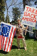 Protester at Bozeman Montana Peace Rally