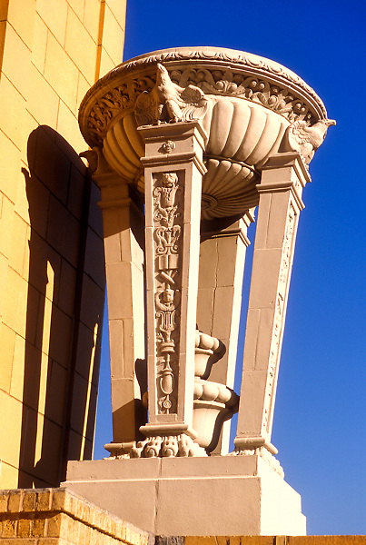 Stock photo of the architectural detail of the Niels Esperson Building in Houston, Texas