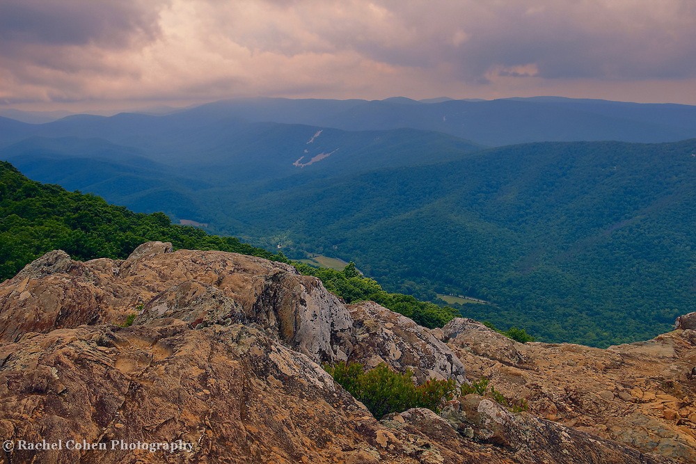 &quot;Colors at Ravens Roost&quot;<br /> <br /> Beautiful mountain layers, clouds and rock formations at Ravens Roost, along the Blue Ridge Parkway in Virginia!