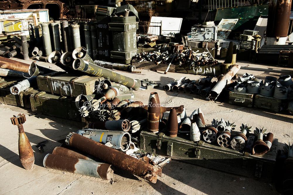Libya, Misurata: Used weaponry from the 2011 uprising. Alessio Romenzi